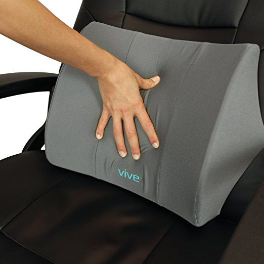 Lumbar Support Pillow By Vive Lower Back Seat Cushion For Office Chair Car Desk And Computer Therapeutic Backrest Pad W Strap