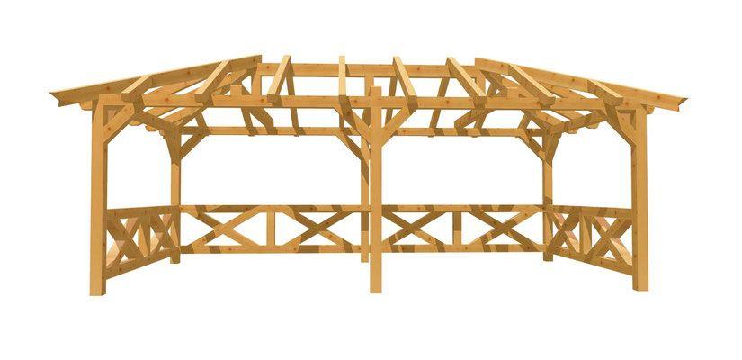 WalmdachPavillon selber bauen holzbauplan.de