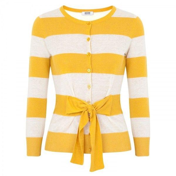 Moschino Cheap & Chic Striped cotton cardigan | Fashonista ...