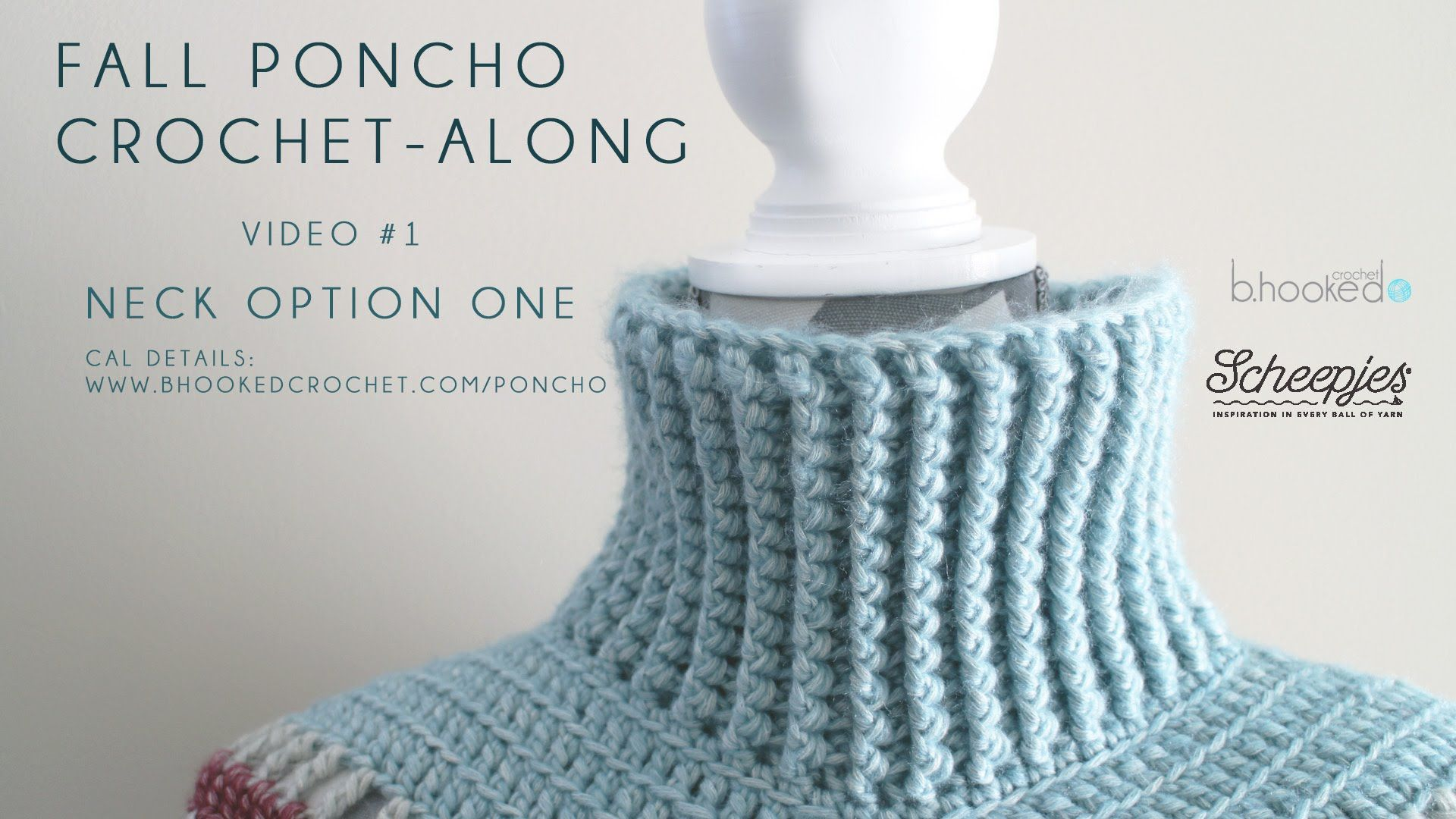 Fall Poncho CAL Neck Option One Right Hand | Ganchillo | Pinterest ...
