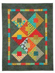 Fat Quarter Lap Quilt & Throw Patterns - Road Not Taken Quilt Pattern