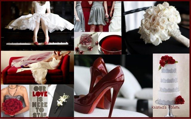 wedding ideas for black silver red white color scheme by On red black and silver wedding