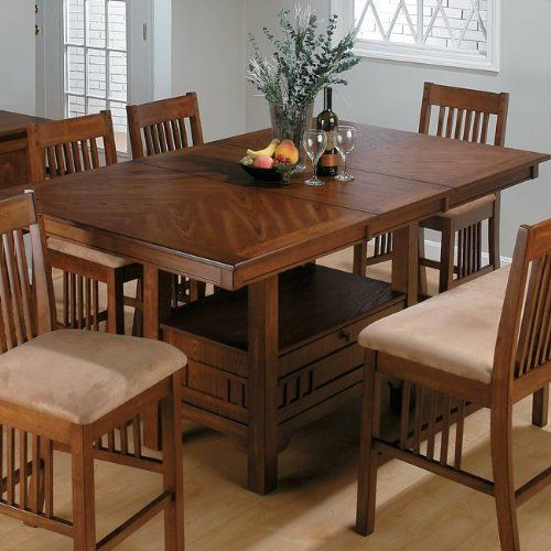 Grande Ronde Dining Table Set With Erfly Leaf By Jofran 1464 99 Beautifully Designed Casual Yet Contemporary Counter Height Top