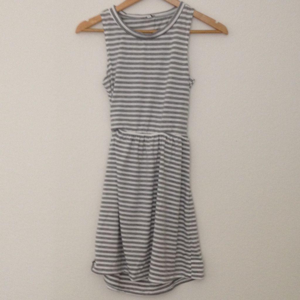 Striped Muscle Skater Dress