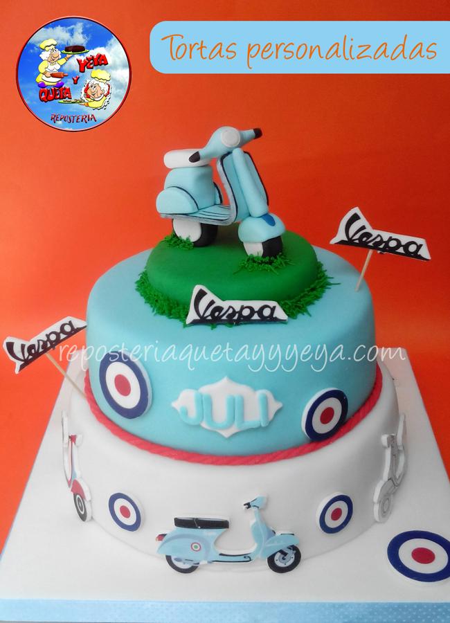 Torta Vespa Vespa cake httpswwwfacebookcomQuetayYeya Tortas