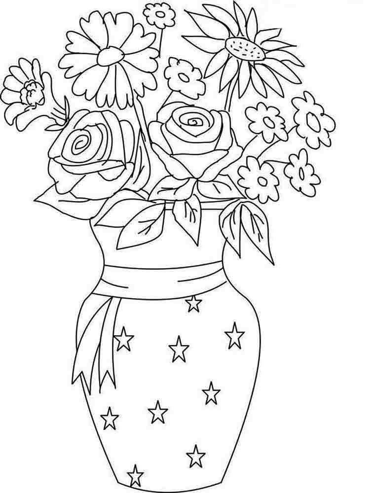 33 Unique Flower Vase Coloring Pages | Unique flower vases ...