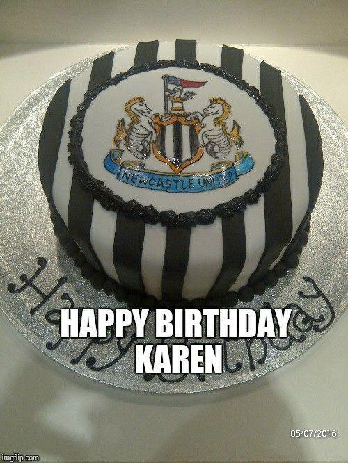 Newcastle Football Cake Karen Birthday Cakes Pinterest