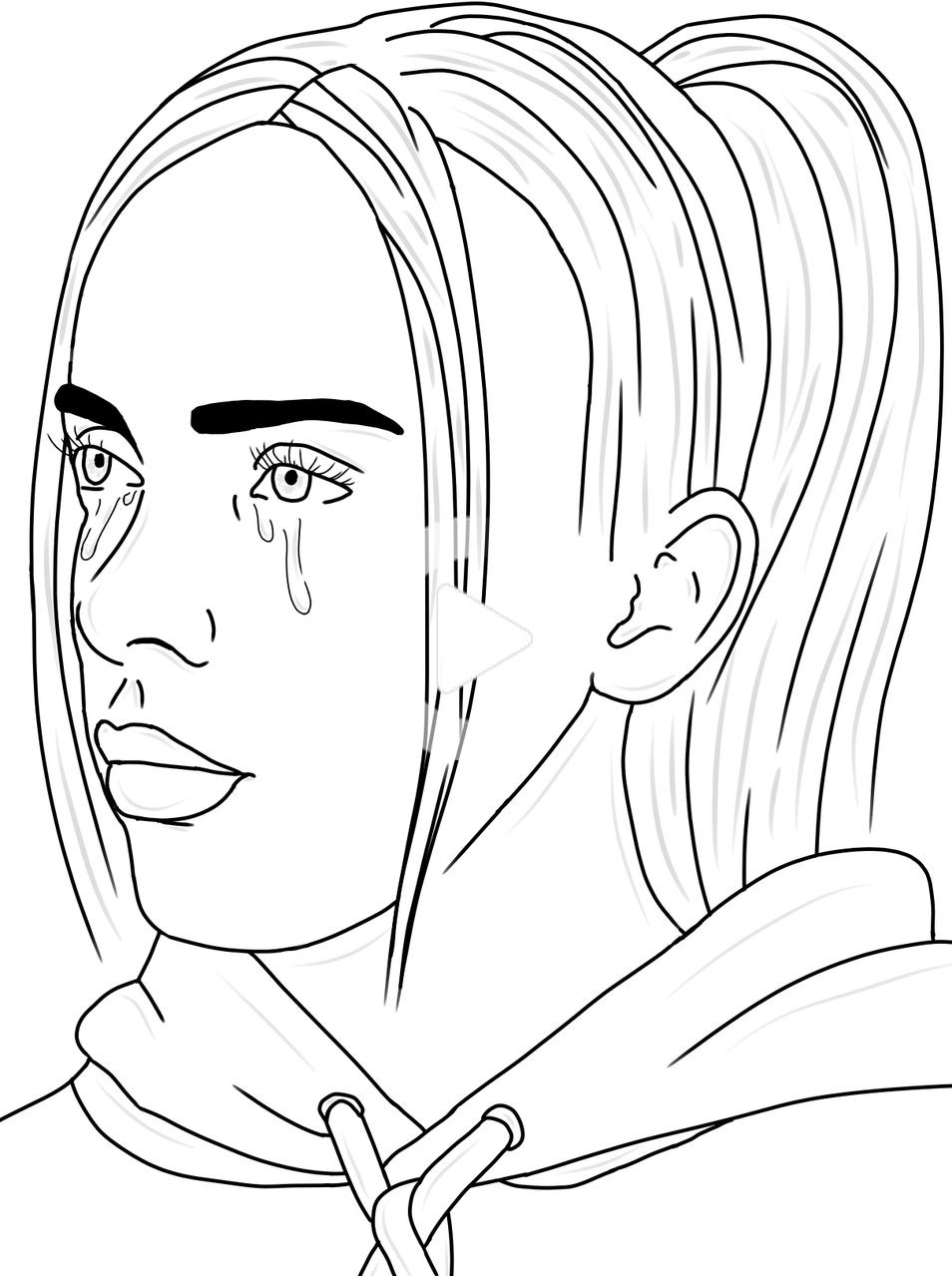 When The Party S Over Billie Eilish Emilyisntok Illustrations Art Street By Mediba Celebrity Art Drawings Art Drawings Sketches Simple Line Art Drawings