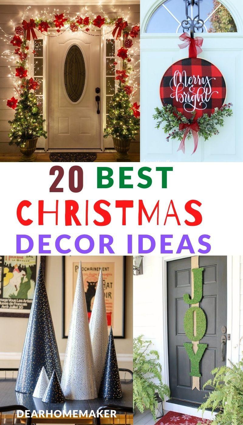 20 Easy Christmas Decoration Ideas Easy Christmas Decorations Christmas Decorations Christmas Decoration Items