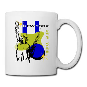 This Visit New York Ceramic Coffee Mug is found only at PersonalizedSouvenirs.com.