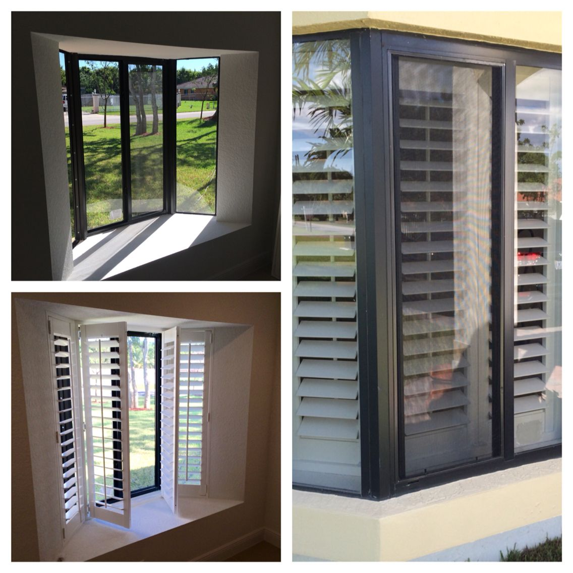 before after and outside view of bay window with plantation rh pinterest com