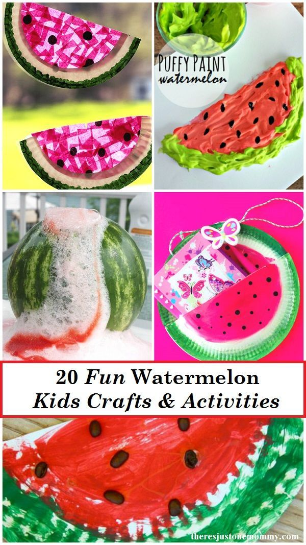 Looking For The Perfect Kids Summer Craft These 20 Fun Watermelon Crafts And Activities