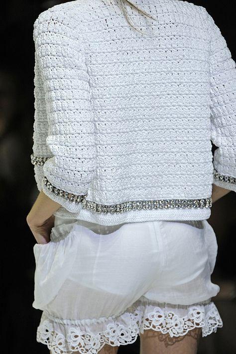 c368ba9a72 Crochetemoda  Dolce e Gabbana Casaqueto