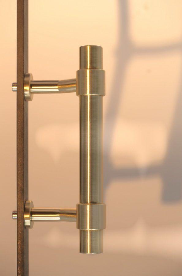 Türdrücker Türgriff Silvretta R stahlgrau Schmiedeeisen Türen - küchenrückwand edelstahl optik