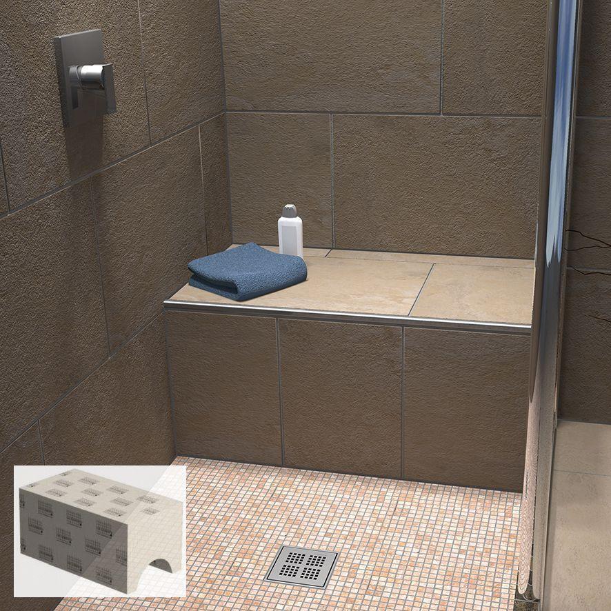 Fliesenschiene24 Sitzbank Fur Bad Und Dusche Befliesbar Solo Duschsitz Duschbank Dusche