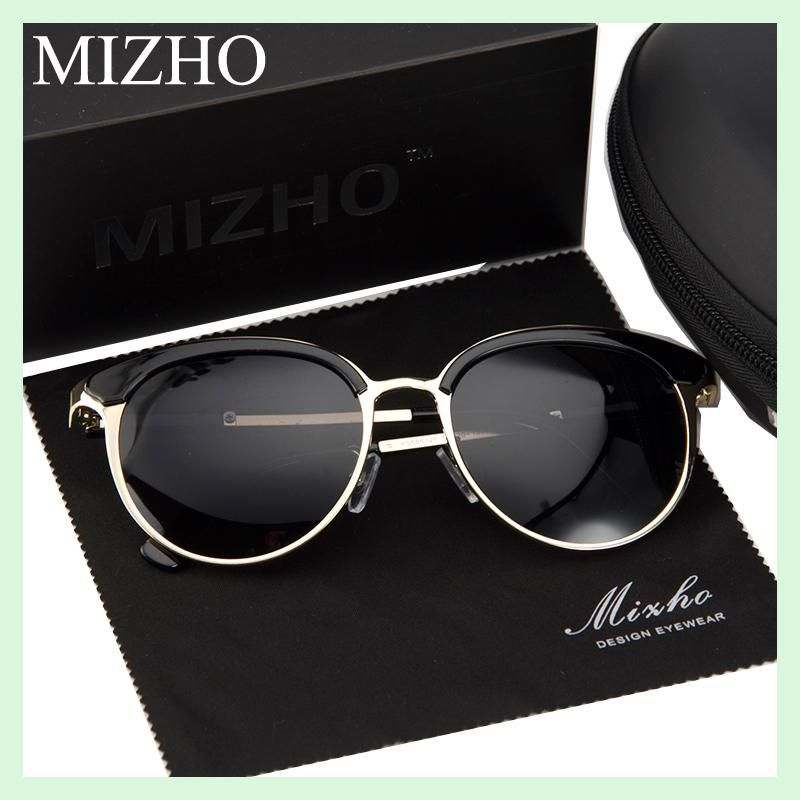 867d7352d0 MIZHO Vidrio Metal Star Polarized Sunglasses Women Cat eye Vintage UVA Polaroid  Sunglass Protector Mirror Original