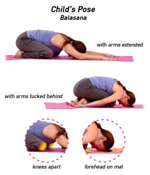 How To Do Child S Pose In Yoga Kids Yoga Poses Basic Yoga Basic Yoga Poses