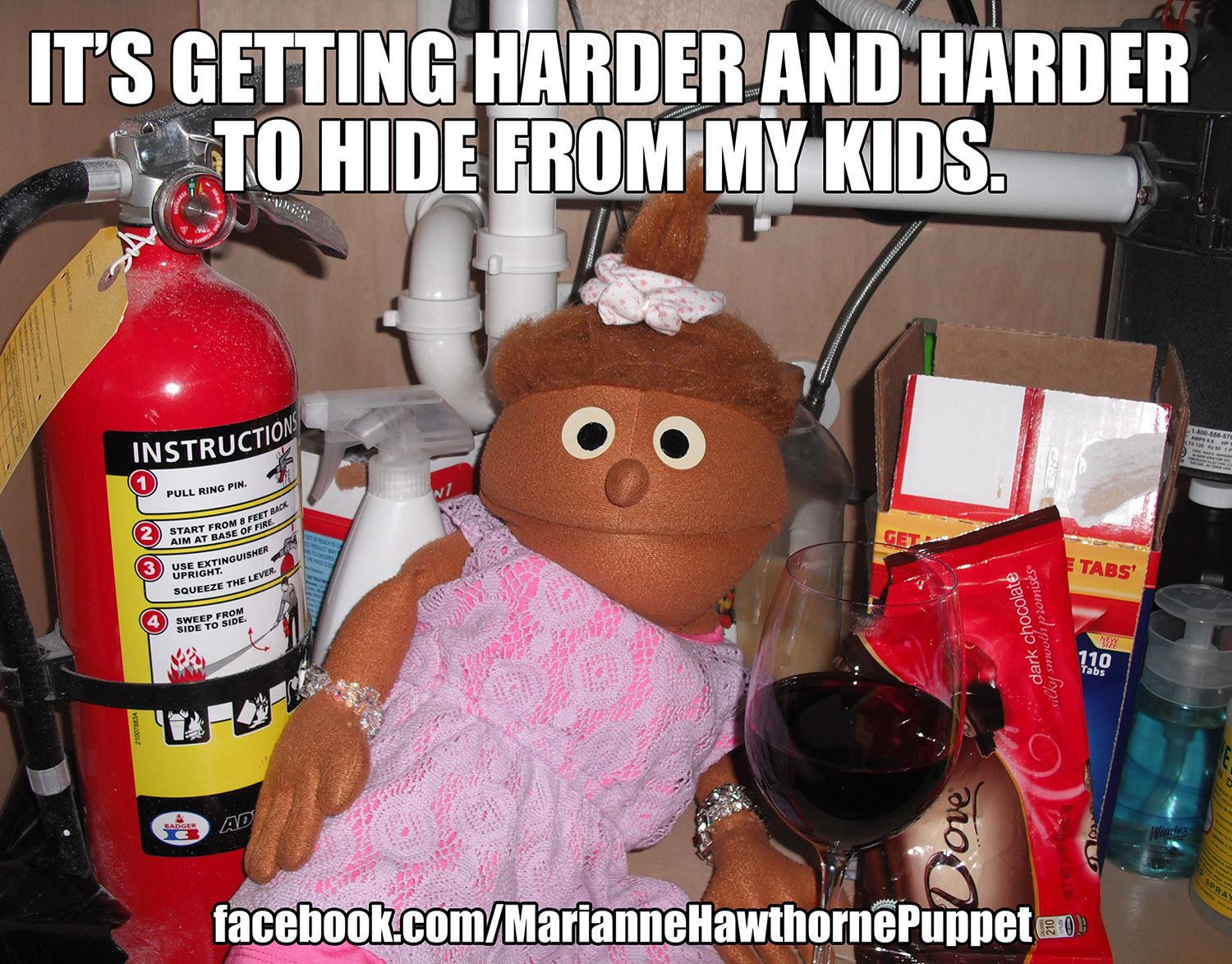 Its getting harder and harder to hide from my kids mom