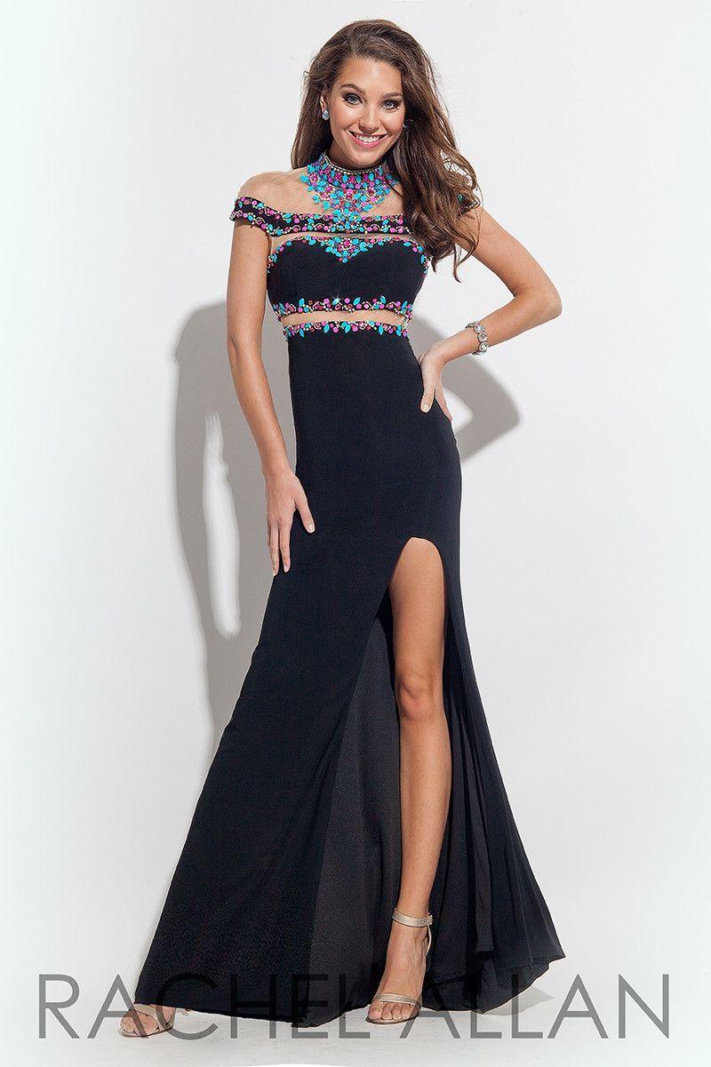 Rachel allen black size prom dress evening dress