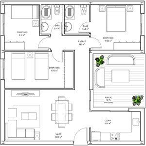 Spanish Retirement Community Alemeria Spain Bungalow Plans Square House Plans Home Design Floor Plans House Floor Plans