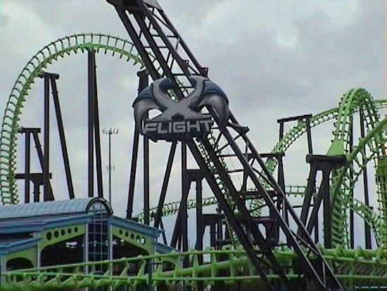 X Flight At Geauga Lake Geauga Lake Amusement Park Abandoned Amusement Parks Amusement Park Rides