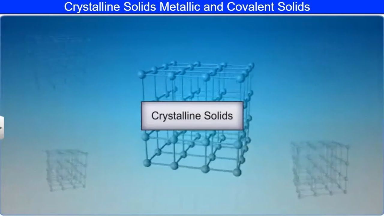 Crystalline Solids Metallic And Covalent Solids By Shiksha House In 2020 Maths Solutions Ways Of Learning Education Related