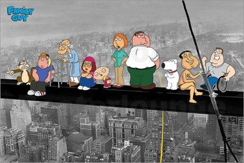 Poster von Family Guy - On a skyscraper