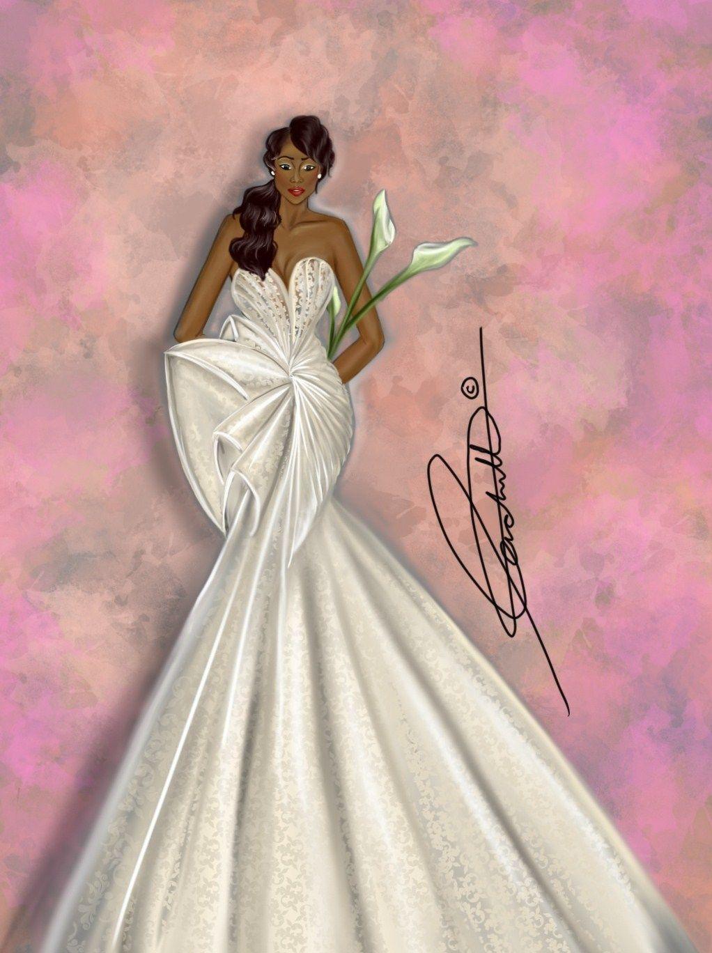 Peniel Enchill Illustrates | wedding | Pinterest | Bocetos y Novios
