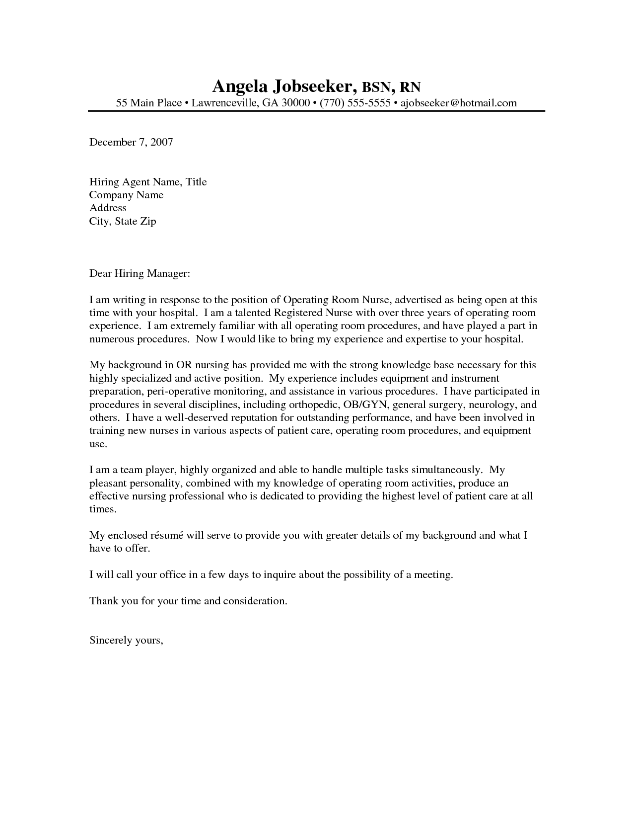 Oncology Nurse Resume Cover Letter - Http://www.resumecareer.info/oncology- Nurse-Resume-Cover-Letter-2/