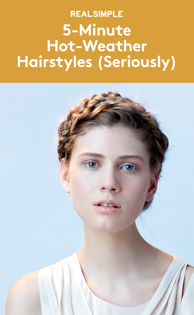 5 Minute Hot Weather Hairstyles Seriously Braided Hairstyles Easy Hot Weather Hair Hair Styles