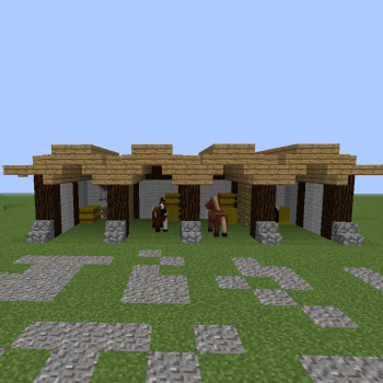 Small Me val Stable Blueprints for MineCraft Houses Castles Towers and more