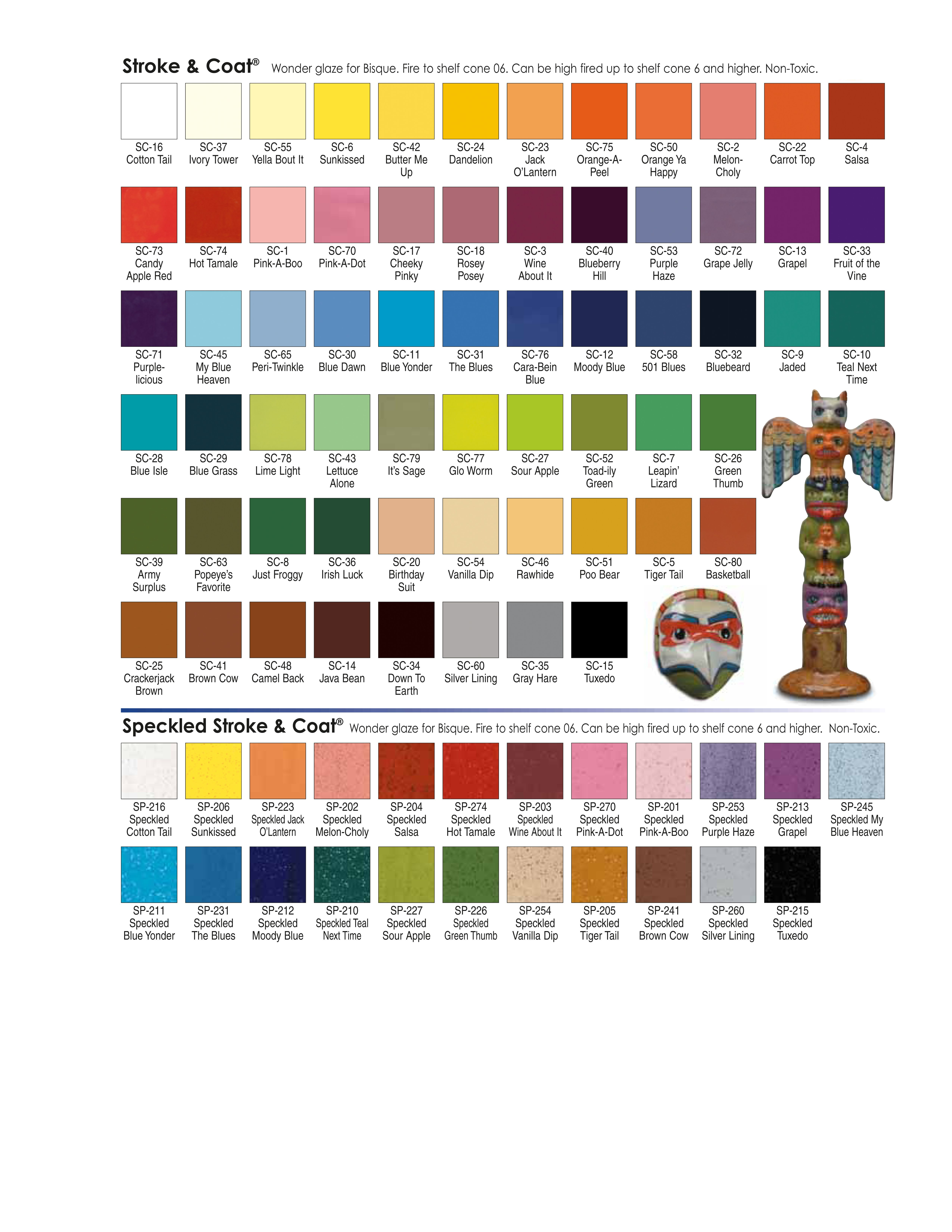 Stroke And Coat Color Chart Color Charts Glaze Lines We Carry Or