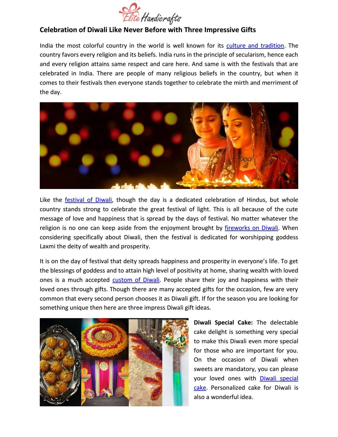 Celebration of diwali like never before with three impressive gifts ...