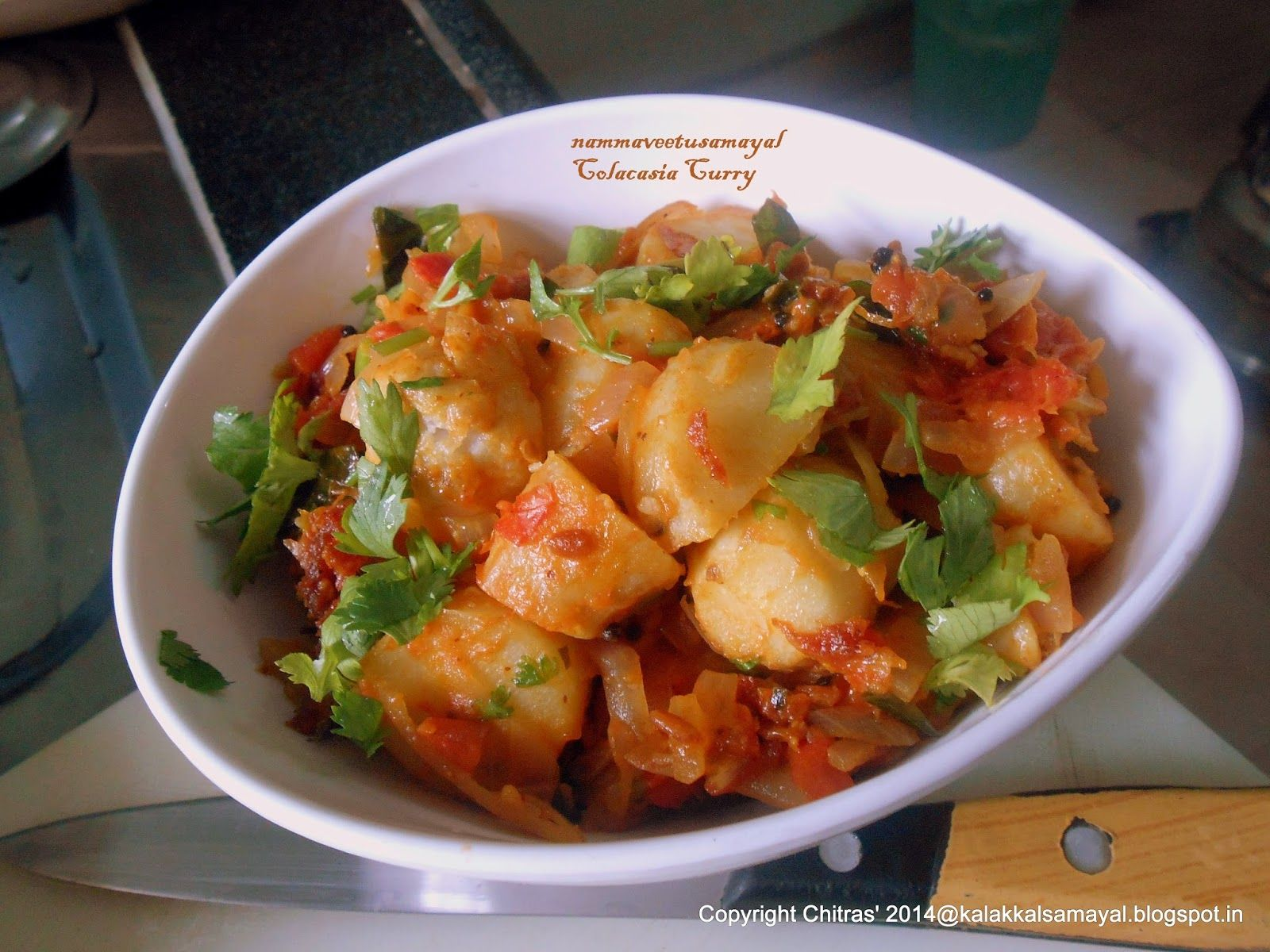 Colacasia Curry Subzi recipe, Recipes in tamil, Cooked