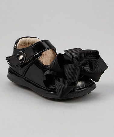 706a56d94f Another great find on  zulily! Black Bow Squeaker Mary Jane by Mooshu  Trainers