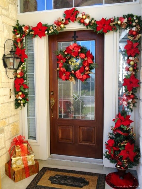 Our Home Away From Home Dollar Tree Christmas Garland Front Door Christmas Decorations Red Christmas Decor Christmas Garland