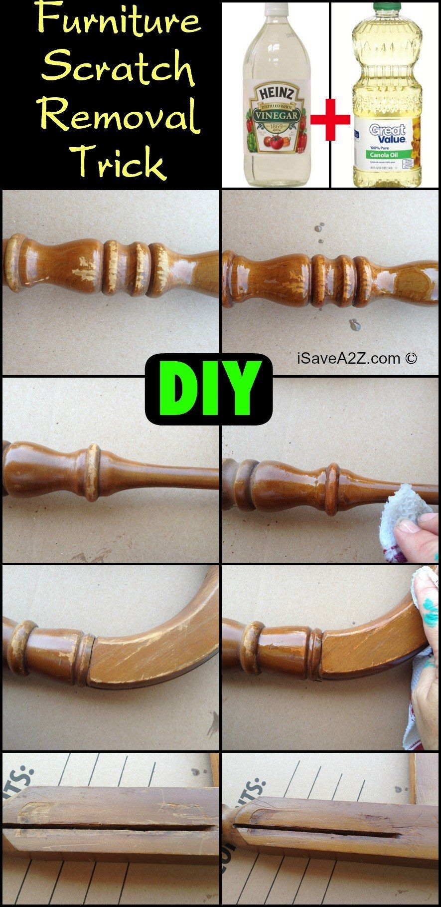 DIY Oil And Vinegar Furniture Scratch Removal Trick