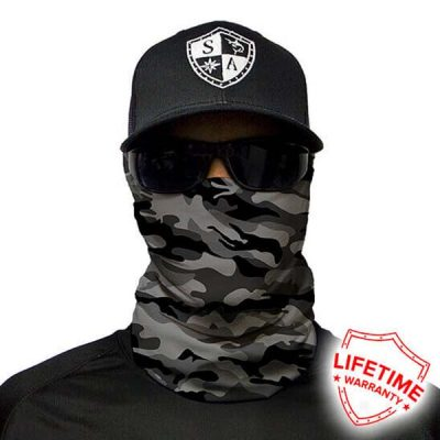 Camo Face Shield | Neck Gaiter | Gray Digital Military Camo - SA TEAM