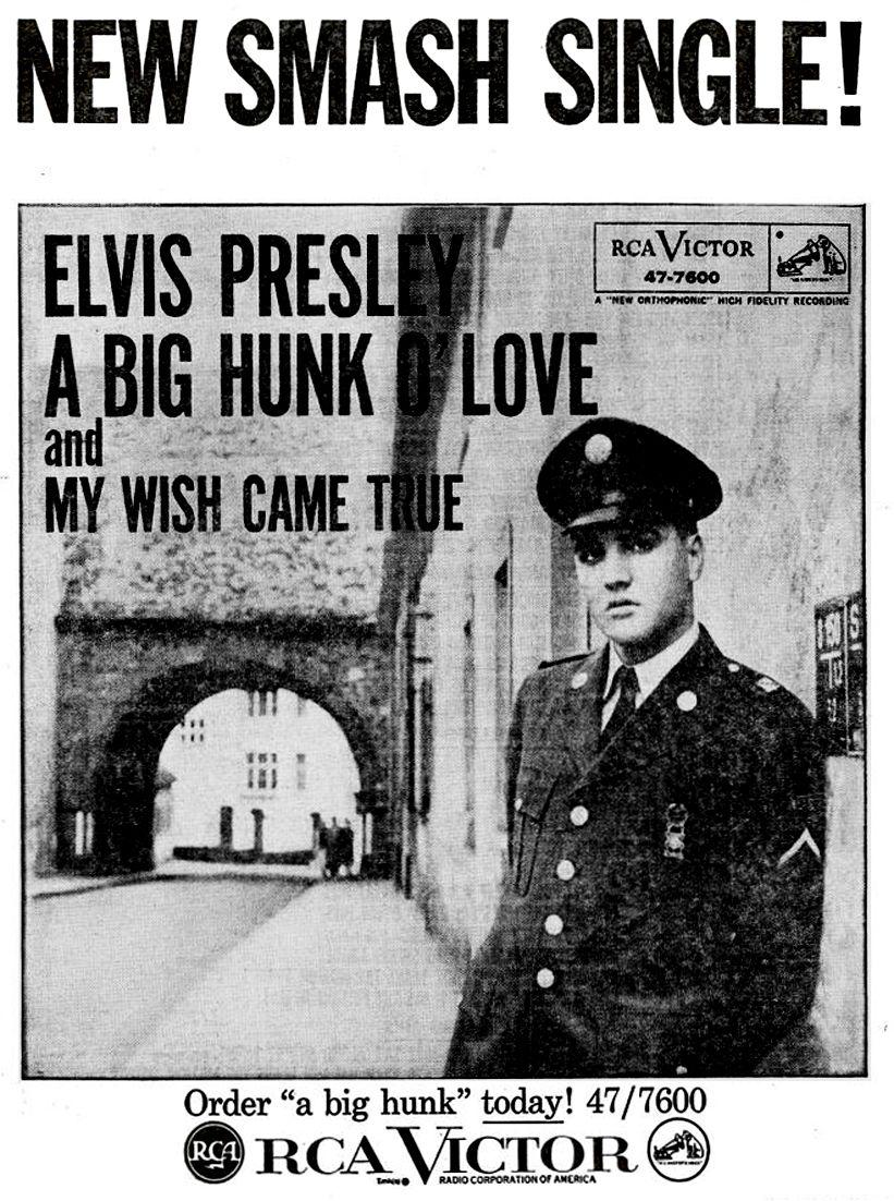 Elvis Presley - Billboard Magazine Advertise 1959