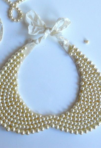 Diy pearl collar necklace heehee you do it yourself i love diy pearl collar necklace heehee you do it yourself solutioingenieria Images