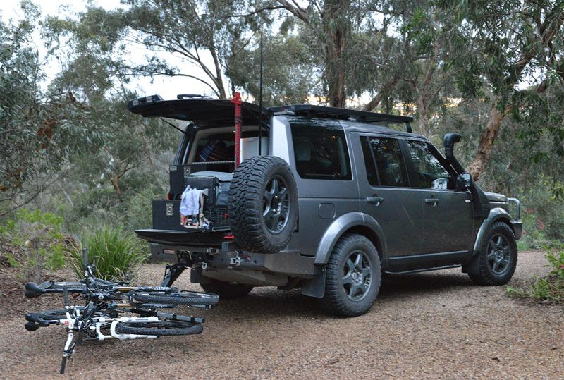 Land Rover Discovery 4 Bicycle Carrier Lowered 4x4 Pinterest