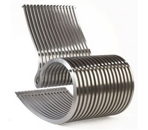 Modern Metal Rocking Chair