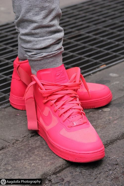 42f96297a2 HOT Pink Air Force High tops