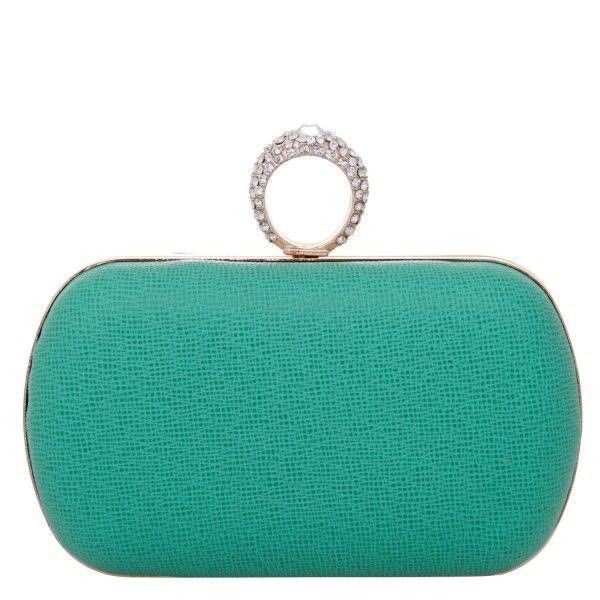 7f66a0262 Clutch Gorgeus verde agua | Clucths em 2019 | Handbag accessories ...