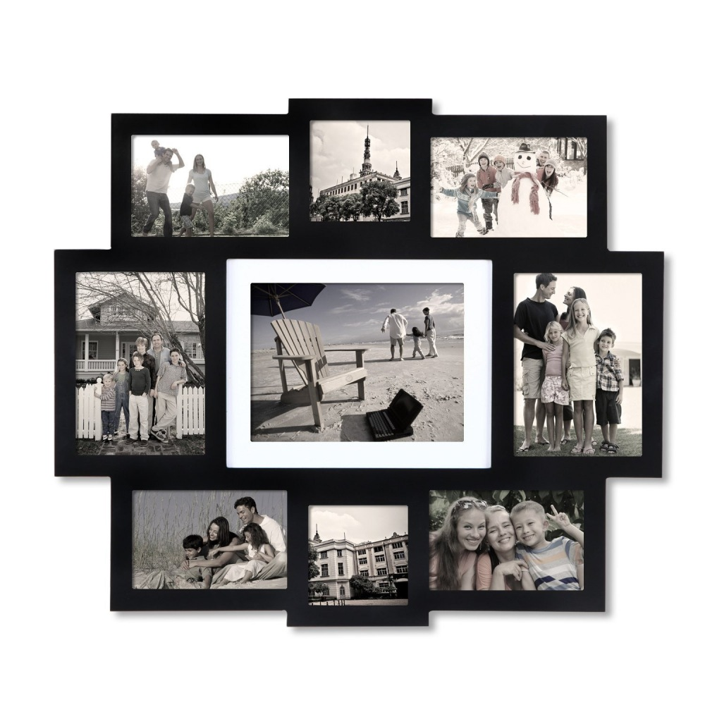 Furnistar Black Wood Wall Hanging Picture Photo Frame Central 6x8 ...