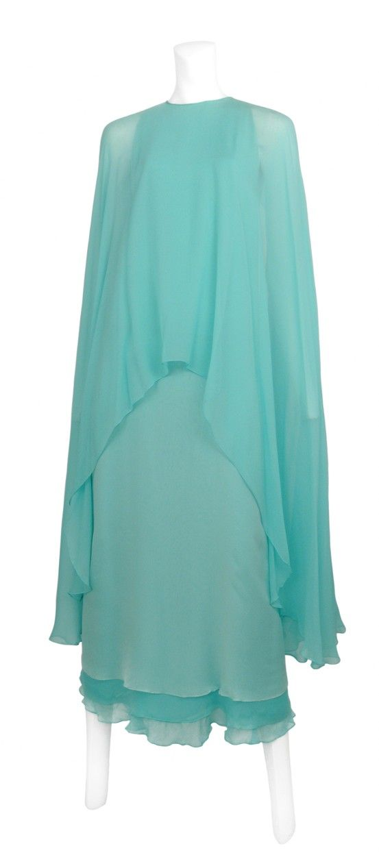 Vintage Halston Blue Chiffon Gown @ Resurrection Vintage | Halston ...