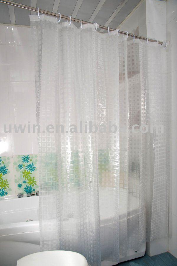 3d Eva Transparent Bathroom Curtain Vinyl Shower Curtain