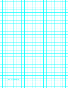 This LetterSized Graph Paper Has Five Aqua Blue Lines Every