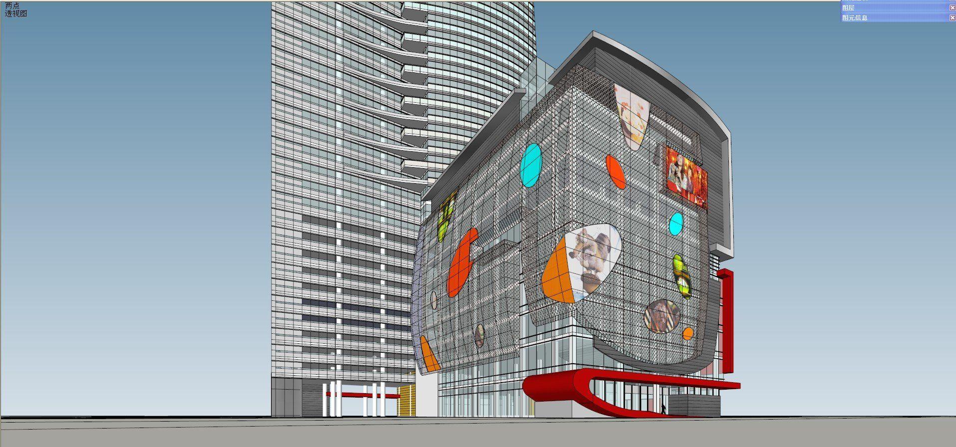 ☆Sketchup 3D Models-Business Building Sketchup Models 17