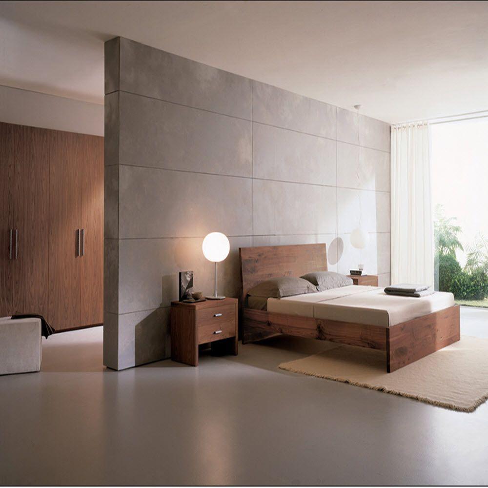 Minimalist bedroom neutral palette brown white wood ... on Neutral Minimalist Bedroom Ideas  id=41847